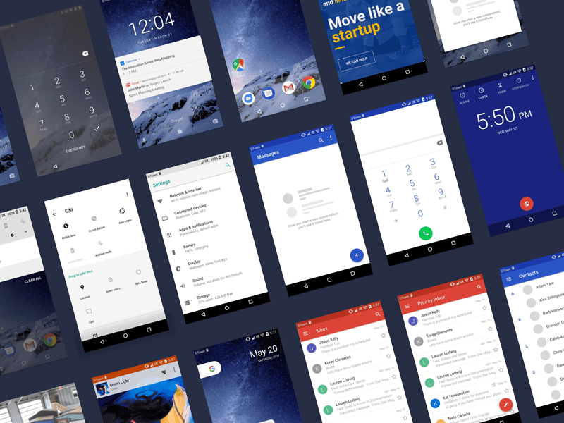 Android O UI Kit for Sketch | Free Mockups, Best Free PSD