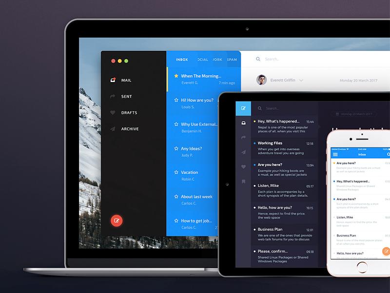 Envelope – Mail App UI Kit Free Sample | Free Mockups, Best