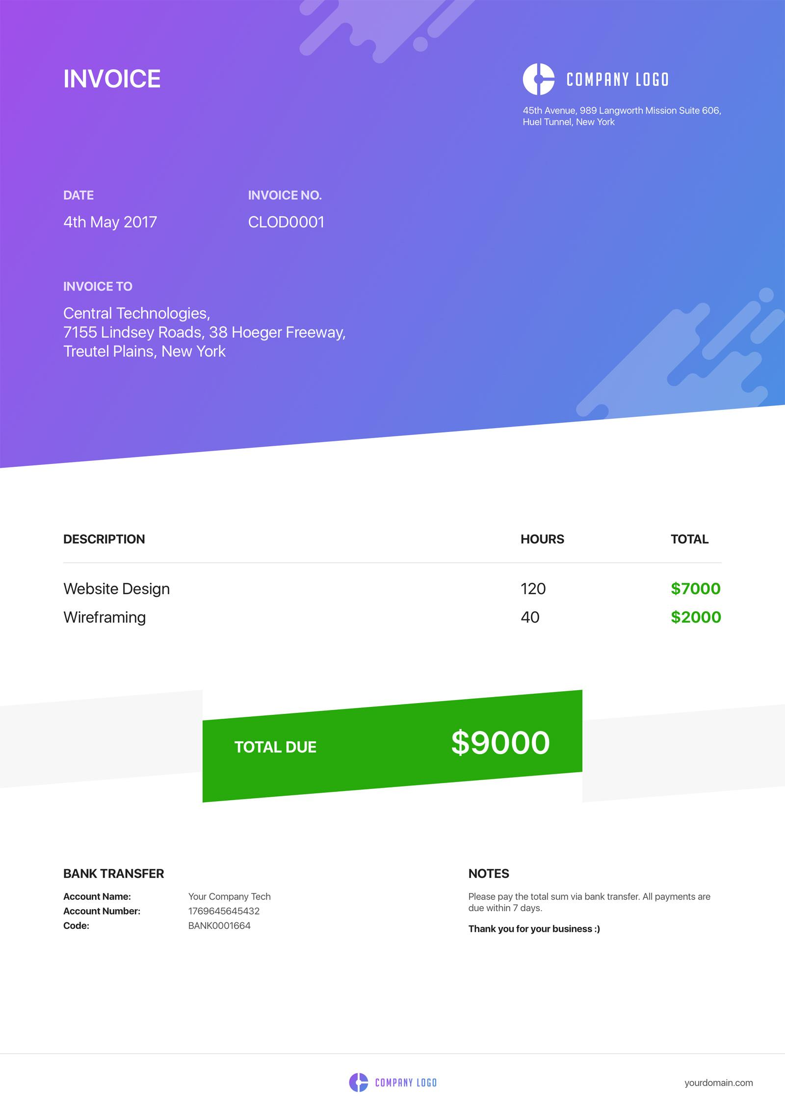invoice template sketch  Invoice Sketch Template | ApeMockups