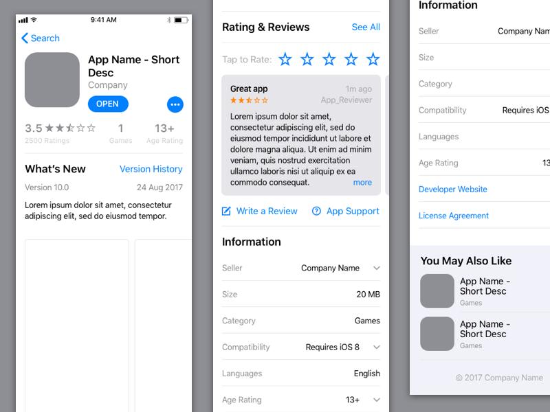 iOS 11 App Store Sketch Resource | Free Mockups, Best Free