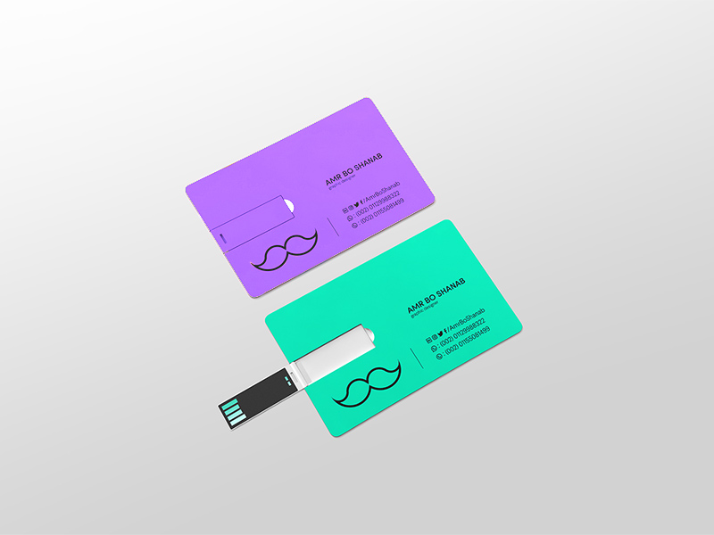 USB Business Card Mockup | ApeMockups