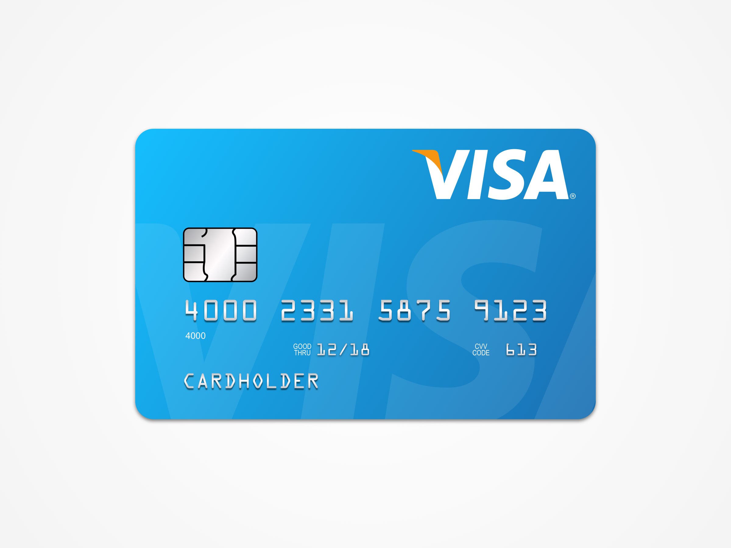 visa card template free sketch - Free Visa Card