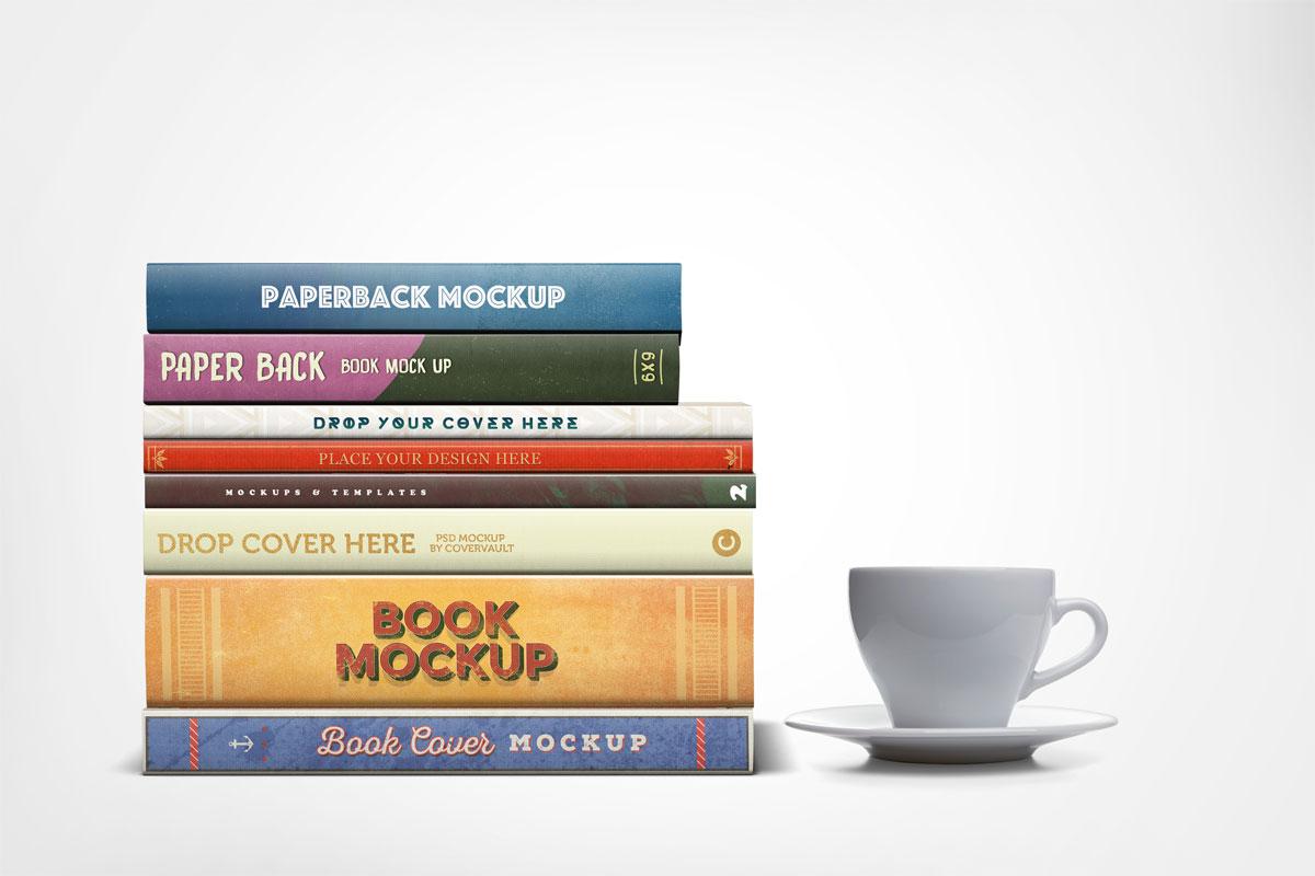 free stacked book mockup apemockups