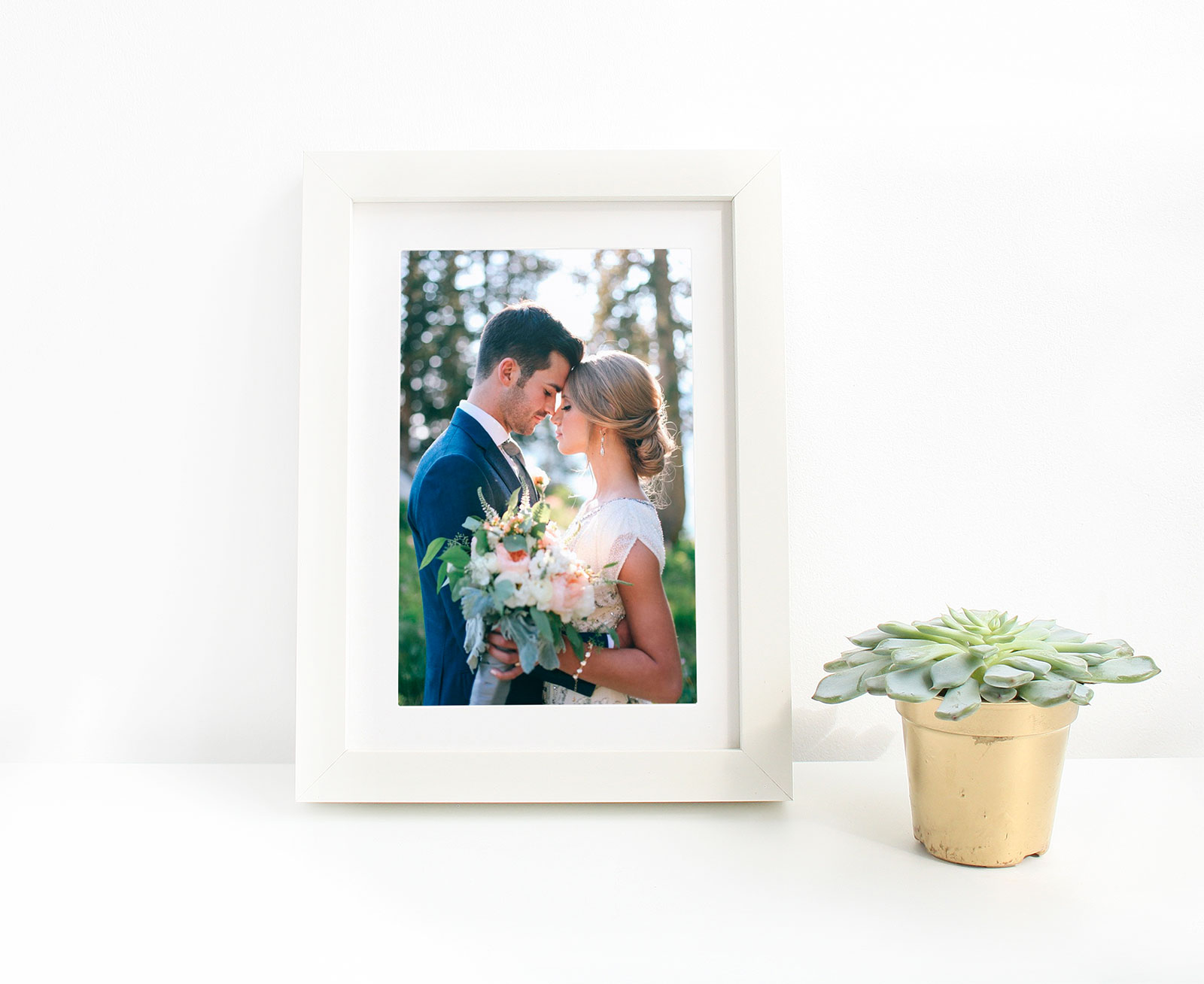 Free Picture Frame Mockup PSD for Wedding Photos & Lettering ...