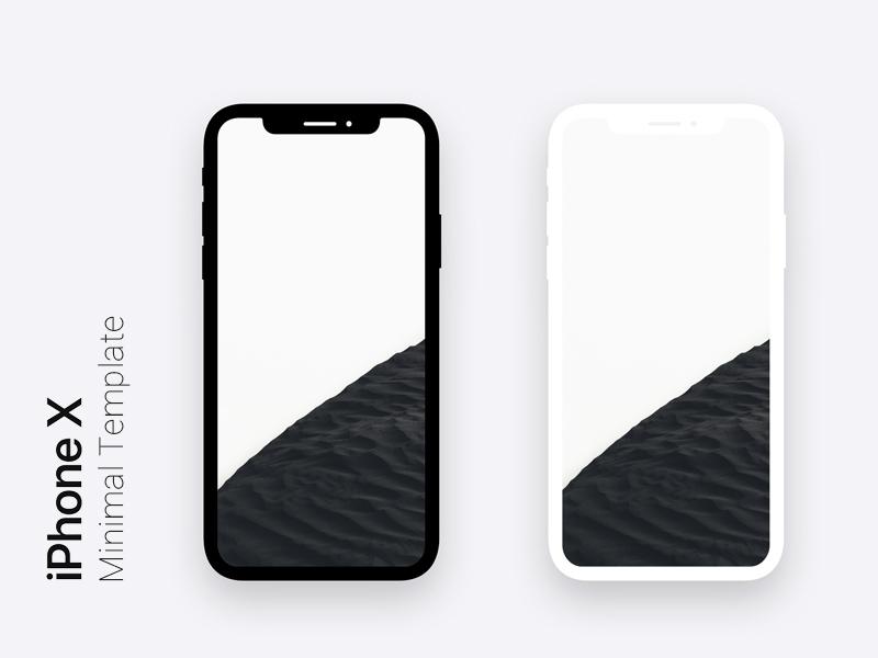 Iphone X Minimal Dark Amp Light Template Apemockups