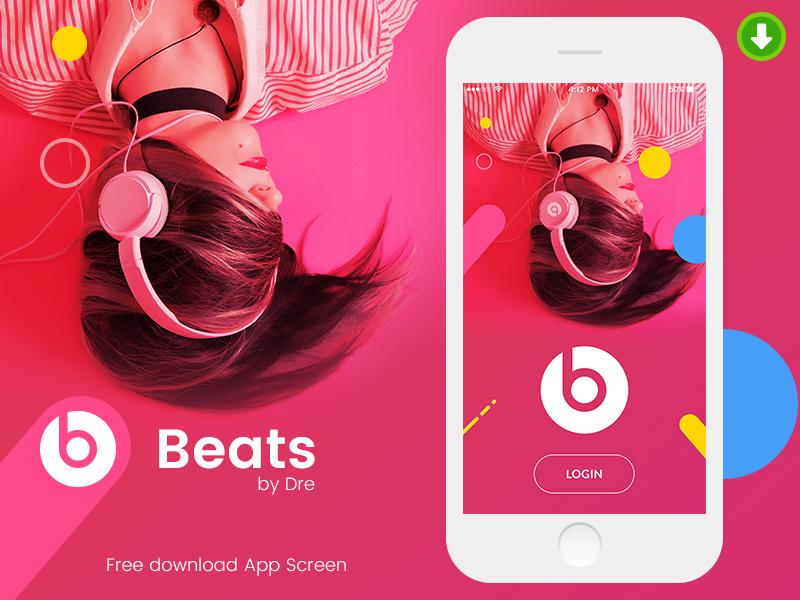 Mobile App Design – Beats by Dre | Free Mockups, Best Free PSD