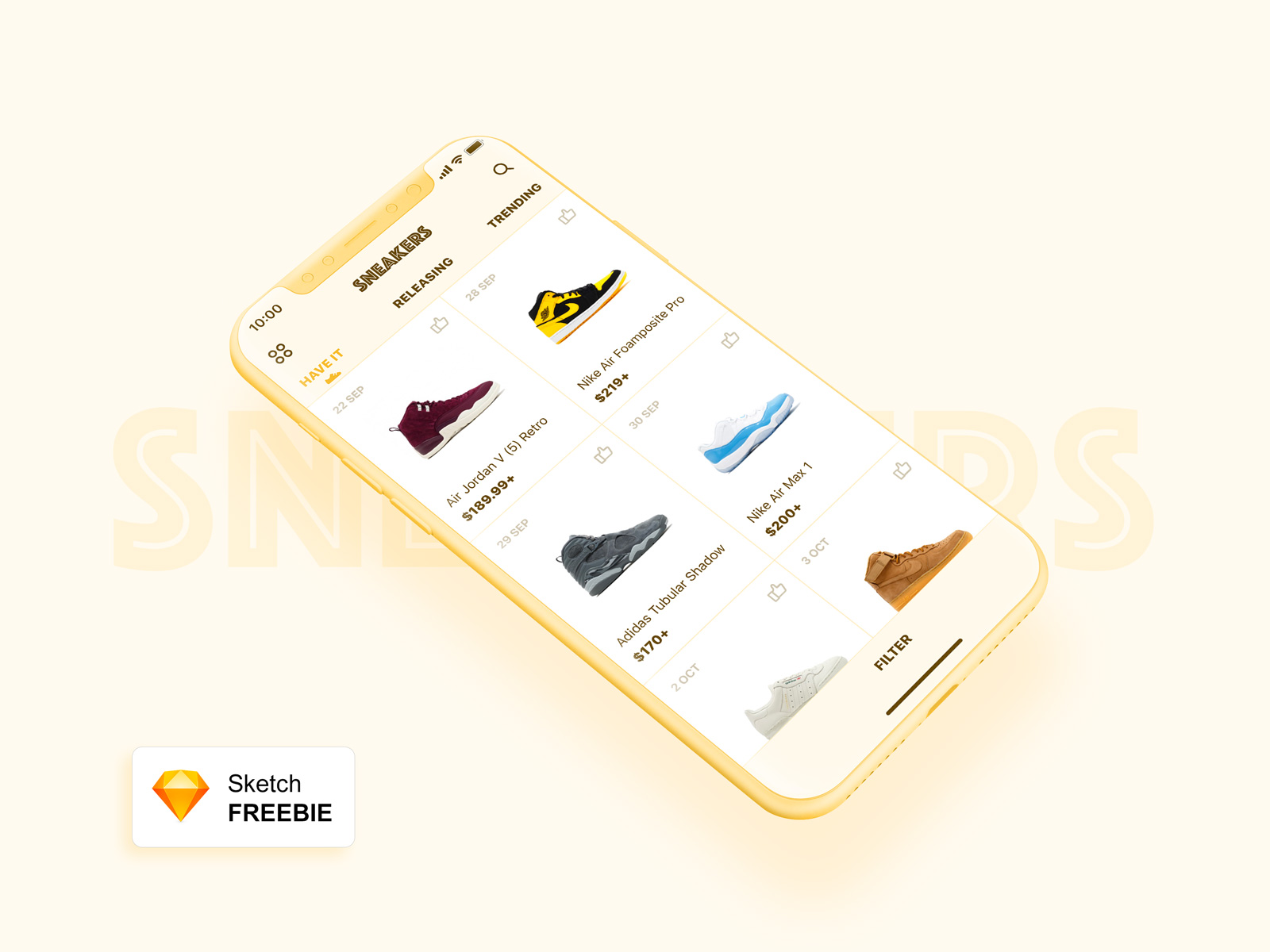 Sneakers Store App Concept for Sketch | ApeMockups