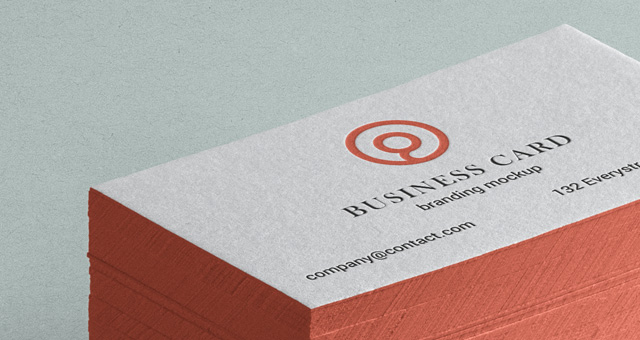 awesome stack of psd business card mockup with side color to show off any of your branding projects enjoy - Colored Edge Business Cards