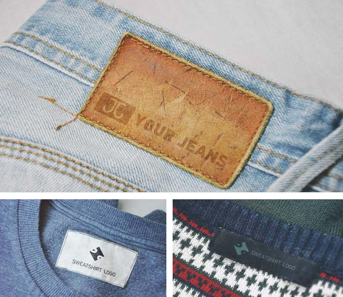 free clothes label mockup apemockups