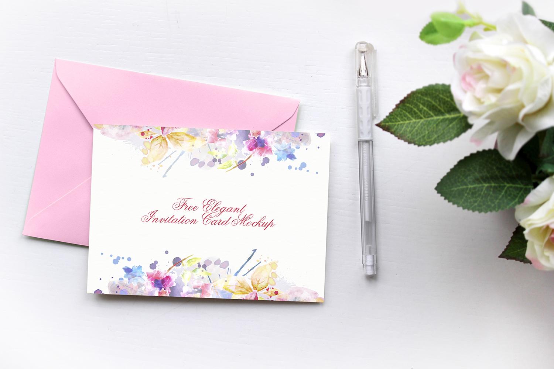 Elegant Invitation Card Mockup Free Psd Free Mockups Best