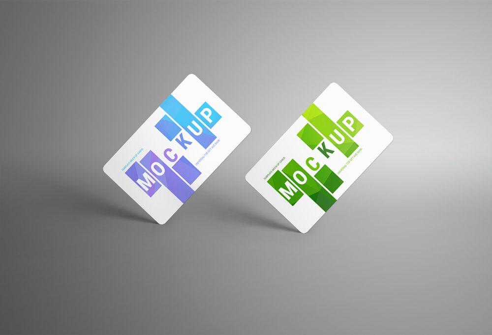 bank card or gift card mockup psd apemockups