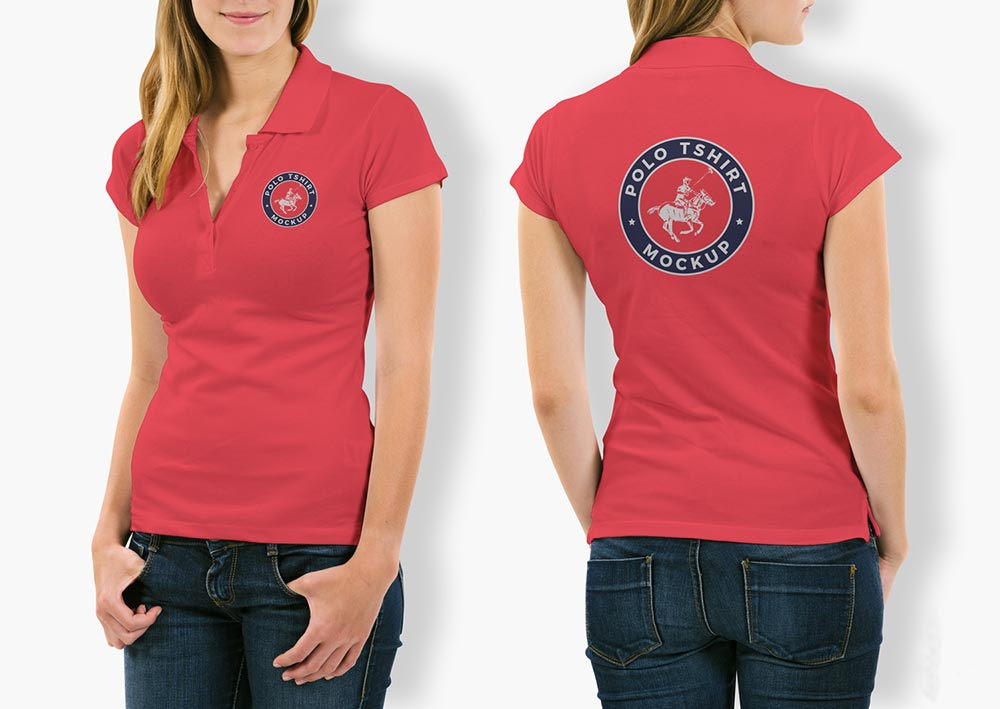 720a65b8 Free Woman Polo T-Shirt Mockup | Download Free Mockups PSD , Best Free  Mockups - ApeMockups
