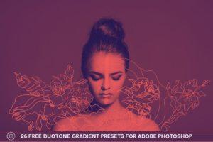 26 Free Duotone Gradient Presets for Adobe Photoshop