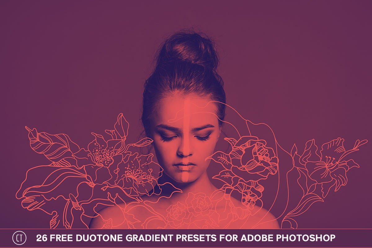 26 Free Duotone Gradient Presets for Adobe Photoshop