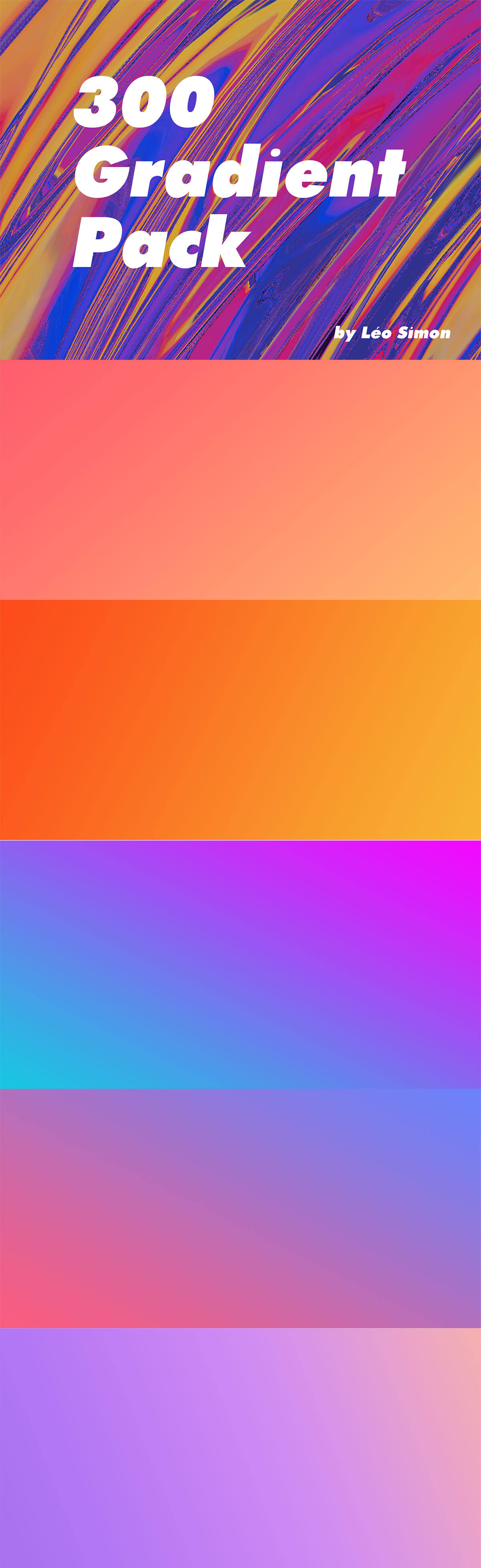 Photoshop Gradients - 300-Free-Gradient-Pack-1
