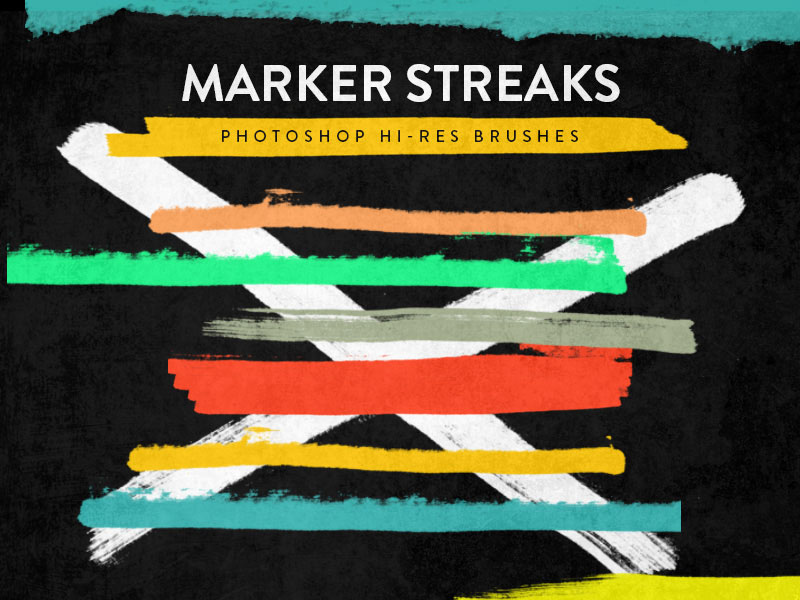 Adobe Photoshop Marker Streaks Brushes