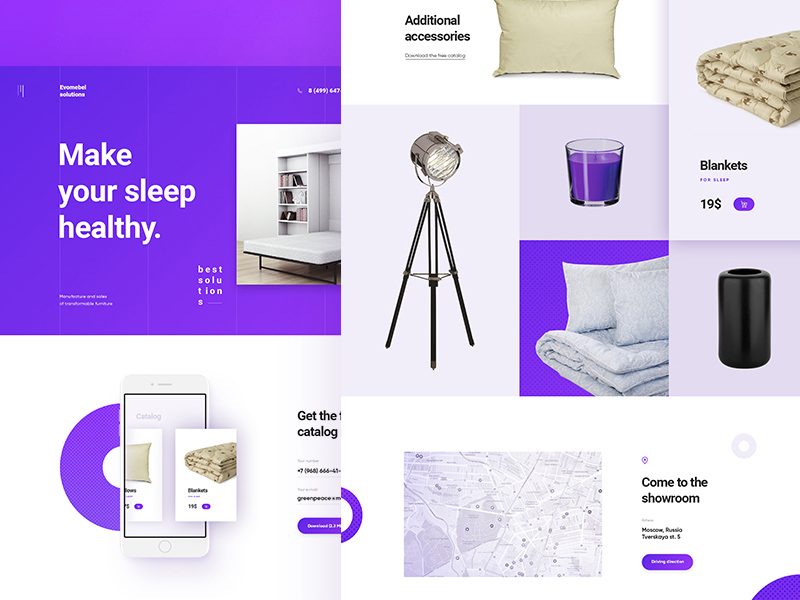 Amethyst – Furniture and Accessories Website Template PSD
