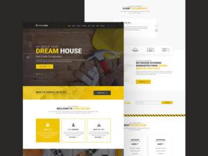 Construction Website Template Free PSD