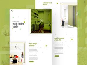Creative Visual Studio Website Template PSD
