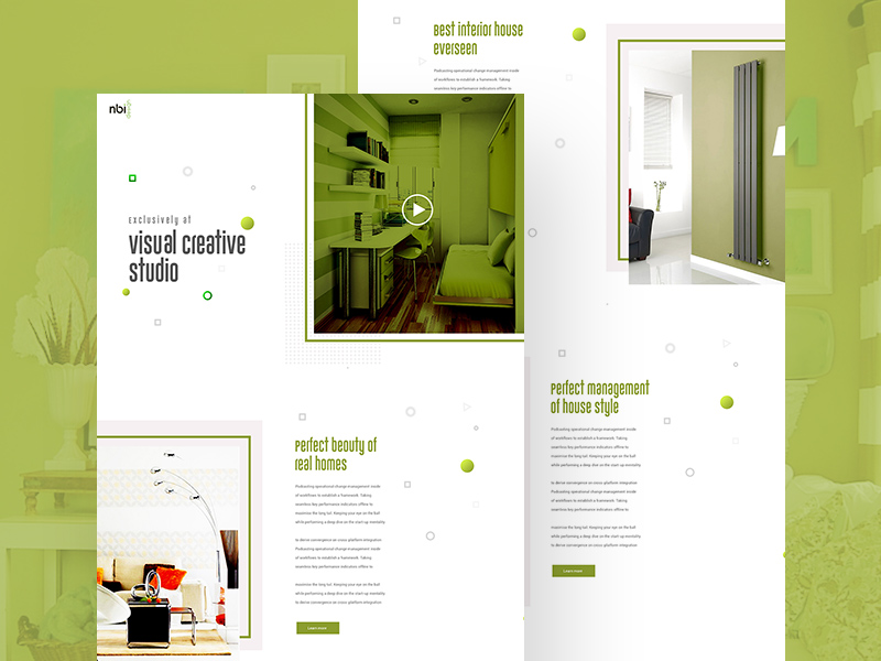 Creative Visual Studio Website Template PSD