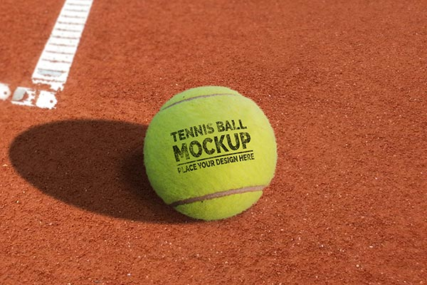 Free Tennis Ball Mockup PSD