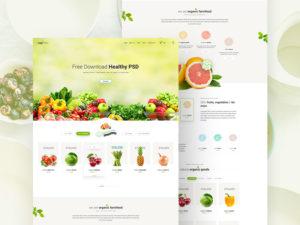 Healthy Food Website Template PSD