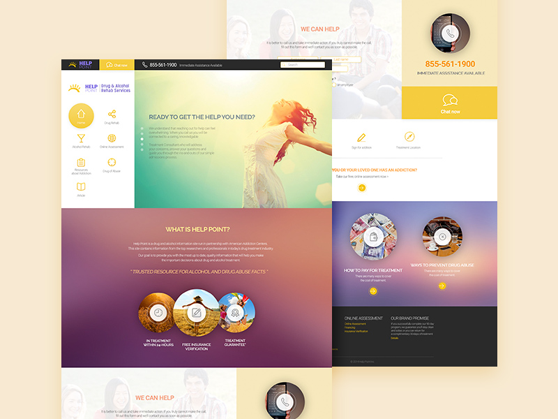 Help Point Website Template PSD