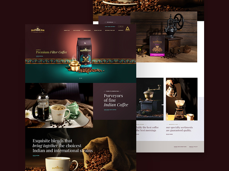 ITC Sunbean Coffee Template website psd