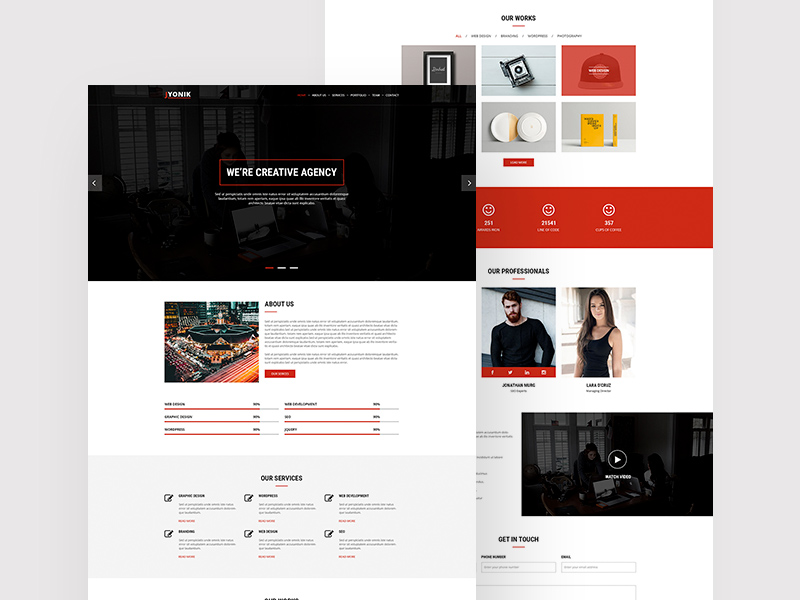 Jyonik Creative One Page Template PSD