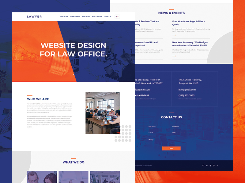 Lawyer Website Template Free PSD