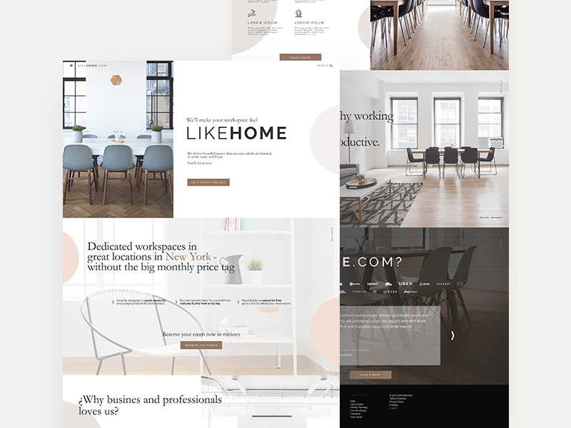 Like Home One Page Website Template
