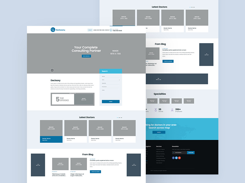 Medical Website Template – Doctooory PSD
