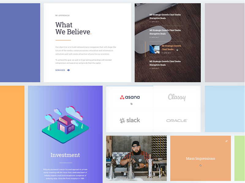 Miequity Website Template PSD