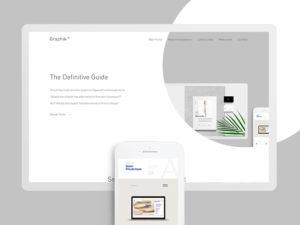 Minimalistic Website Design Free PSD