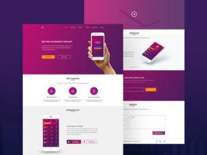 Money Exchange App Landing Page Design
