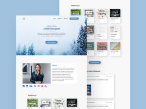 Personal Landing Page Template PSD