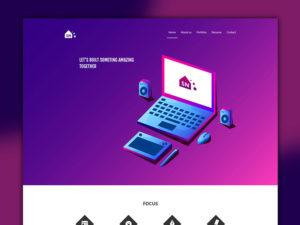 Portfolio Design Templates Website PSD