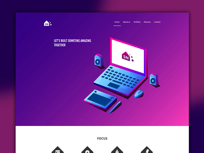 Portfolio Design Templates Website PSD