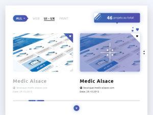 Portfolio Template – View Items PSD Free Website