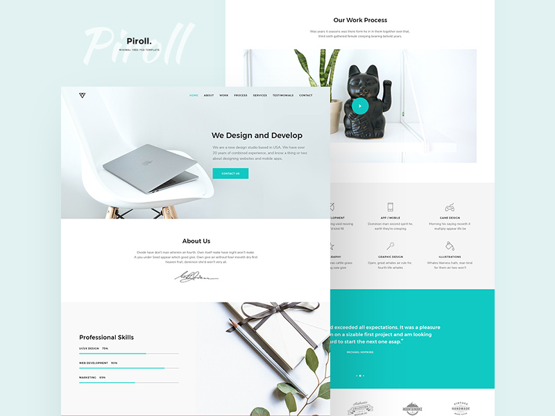 Portfolio Template | Download Free Mockups PSD , Best Free