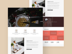 Restaurant Food Landing Page Template