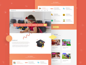 School Website Template PSD