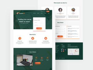 Trading & Investment Website Concept Template PSD