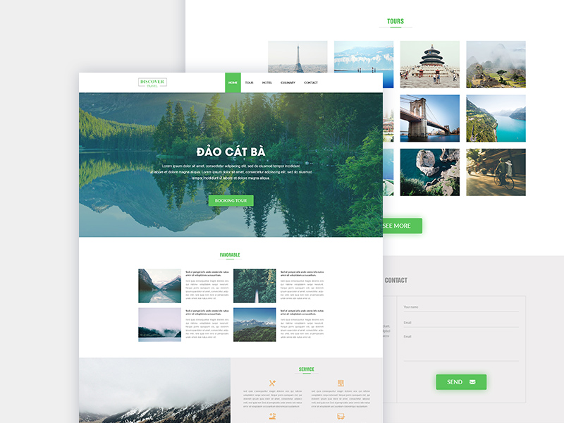 Travel – Landing Page Template PSD