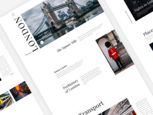 Travel Website Template London City PSD