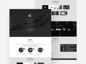 free Landing Website Template PSD