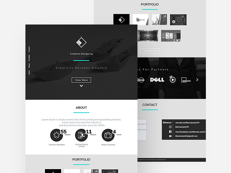 free Landing Website Template PSD