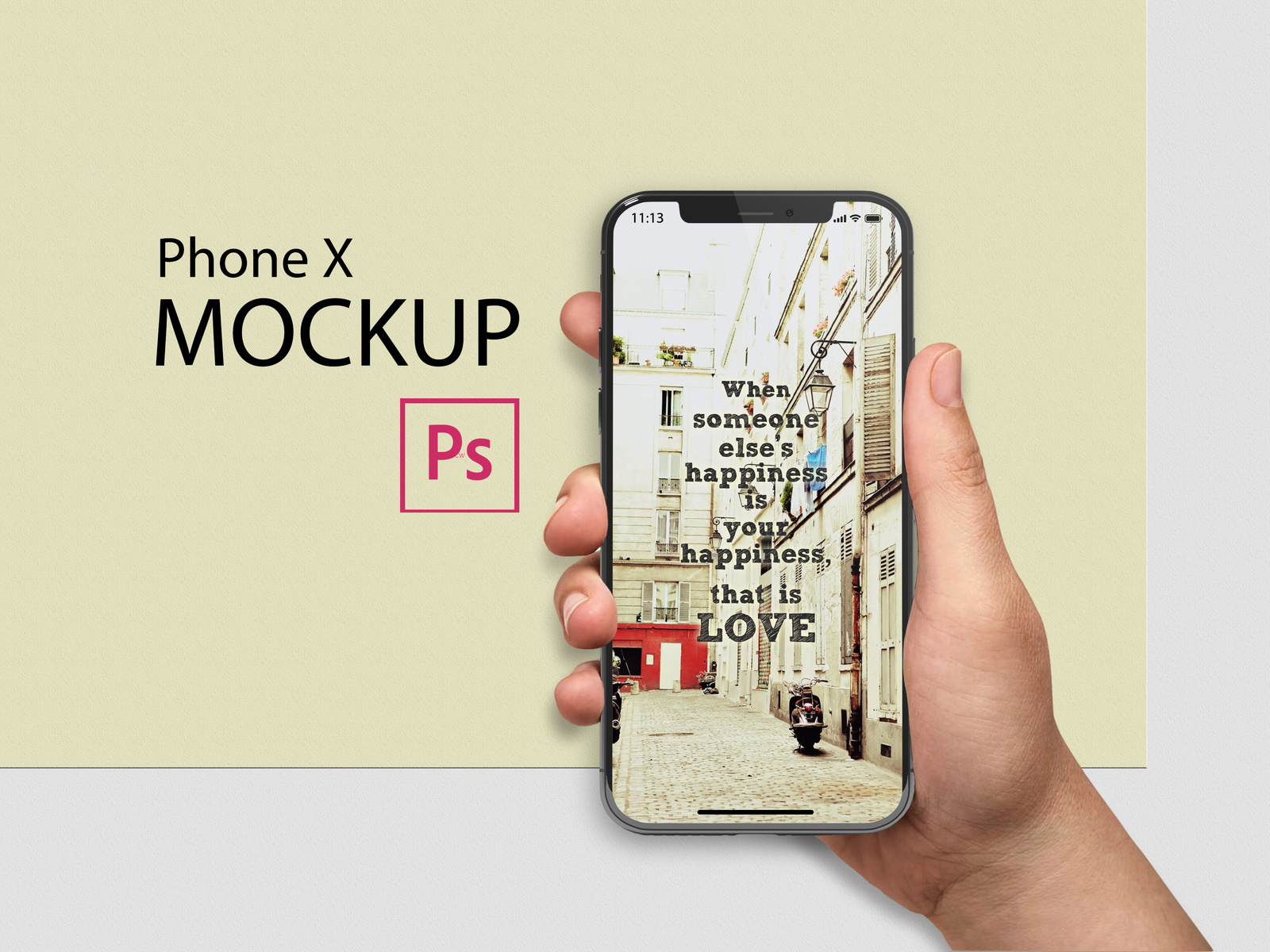 Free Iphone X In Hand Mockups