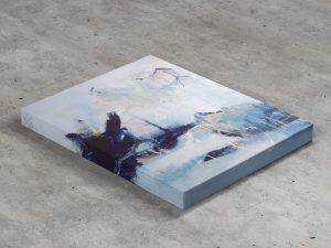 Free Canvas Art Mockup PSD