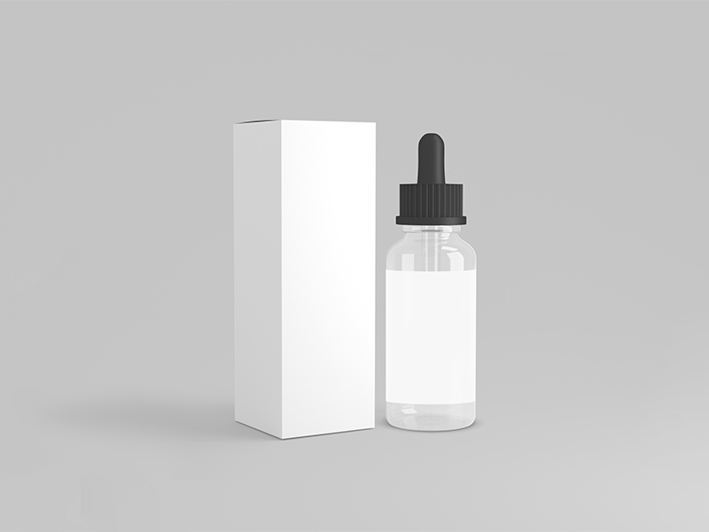 Free Dropper Bottle Mockup